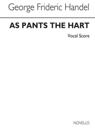 Georg-Friedrich Haendel - As Pants The Hart HWV 251a - Partition - di-arezzo.fr