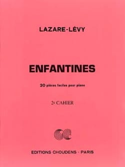Enfantines Volume 2 Opus 31 - Lazare-Lévy - laflutedepan.com