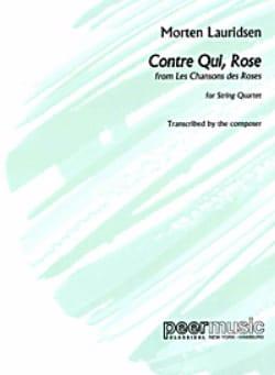 Morten Lauridsen - Contre Qui, Rose - Partition - di-arezzo.fr