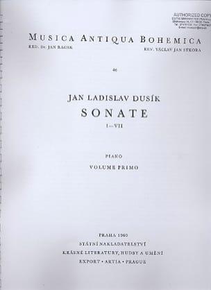 Sonates 1 A 7 Volume 1. - Jan Ladislav Dussek - laflutedepan.com