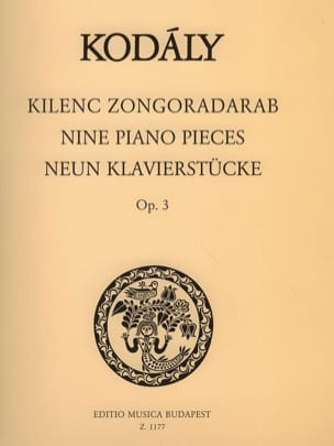 9 Klavierstücke Opus 3 KODALY Partition Piano - laflutedepan
