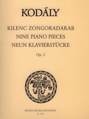 Zoltan Kodaly - 9 Klavierstücke Opus 3 - Partition - di-arezzo.fr