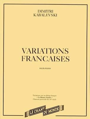 Dimitri Kabalevsky - French variations - Sheet Music - di-arezzo.co.uk