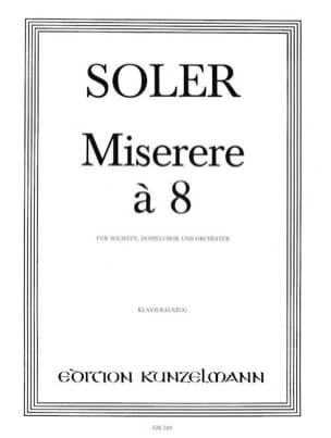 Miserere A 8 - Antonio Soler - Partition - Chœur - laflutedepan.com
