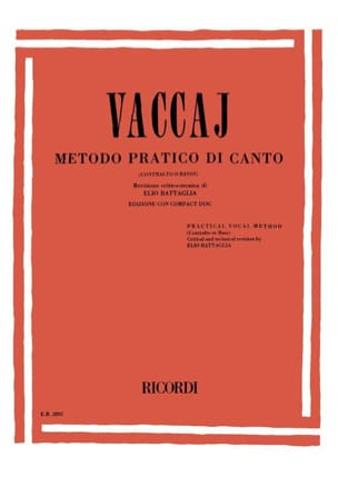 Nicola Vaccai - Metodo Pratico. Deep voice - Sheet Music - di-arezzo.co.uk
