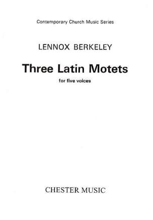 Lennox Berkeley - 3 Latin Motets - Partition - di-arezzo.fr