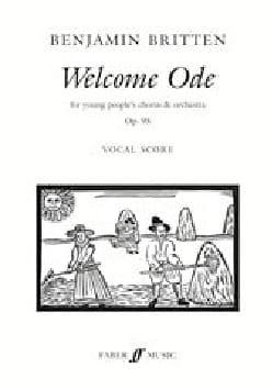 Welcome Ode Opus 95 - Benjamin Britten - Partition - laflutedepan.com