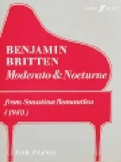 Benjamin Britten - Moderato et Nocturne - Partition - di-arezzo.fr