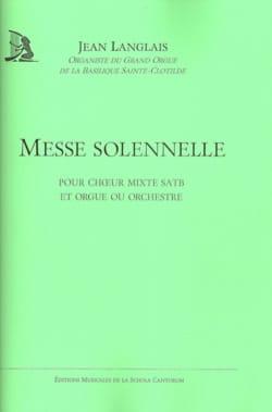 Messe Solennelle Jean Langlais Partition Chœur - laflutedepan