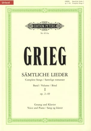 Edward Grieg - Samtliche Lieder Volume 1 - Partitura - di-arezzo.it