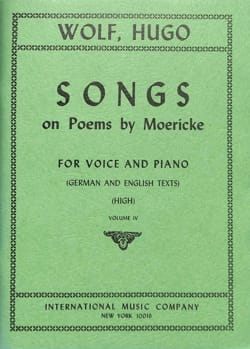 Hugo Wolf - Songs On Poems By Möricke Vol 4 Vx Haute - Partition - di-arezzo.fr