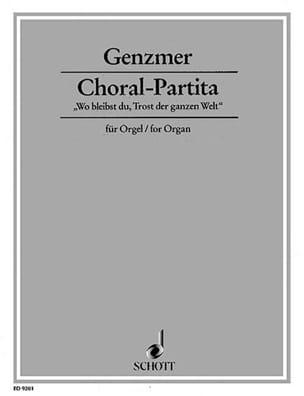 Harald Genzmer - Choral-Partita - Partition - di-arezzo.fr