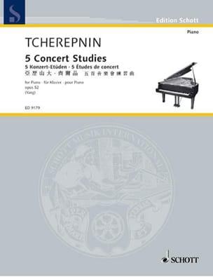 5 Etudes de Concert Op. 52 Alexandr Tcherepnine Partition laflutedepan