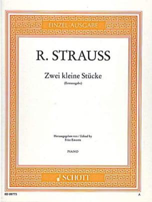 R. Strauss - 2 Kleine Stücke - Partition - di-arezzo.fr