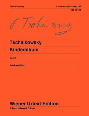 Kinderalbum Opus 39 TCHAIKOWSKY Partition Piano - laflutedepan