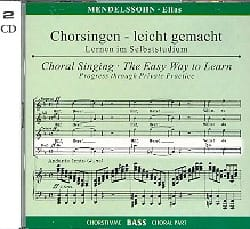 Elias Opus 70. 2 CD Basse - MENDELSSOHN - Partition - laflutedepan.com