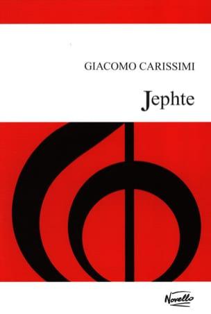 Giacomo Carissimi - Jephte - Sheet Music - di-arezzo.co.uk