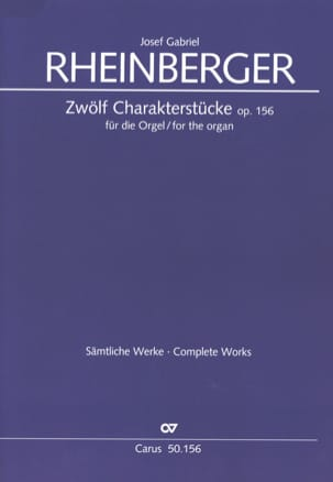 12 Charakterstücke Op. 156 Joseph Rheinberger Partition laflutedepan