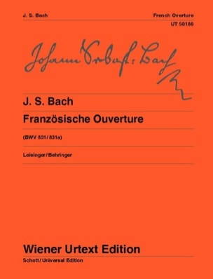BACH - Ouverture à la française, BWV 831 / 831a - Partition - di-arezzo.fr