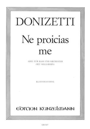 Gaetano Donizetti - Ne Proicias Me - Partition - di-arezzo.fr
