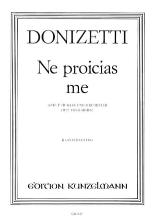 Ne Proicias Me - Gaetano Donizetti - Partition - laflutedepan.com