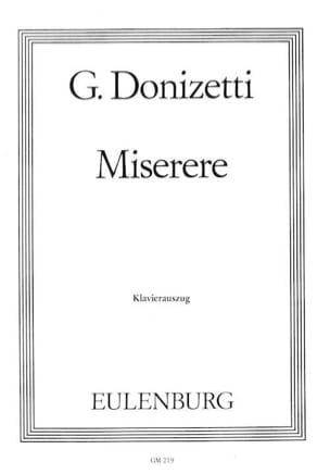 Gaetano Donizetti - Miserere En Sol Mineur - Partition - di-arezzo.fr