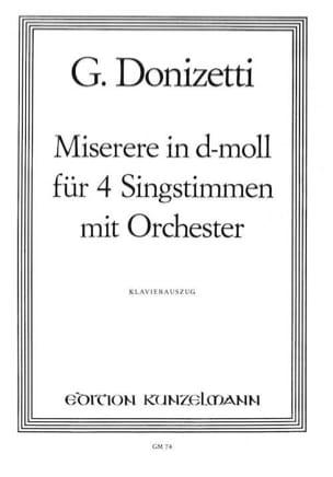 Gaetano Donizetti - Miserere en re menor - Partitura - di-arezzo.es