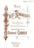 Emmanuel Chabrier - 3 Romantic Waltzes. 2 Pianos - Sheet Music - di-arezzo.co.uk