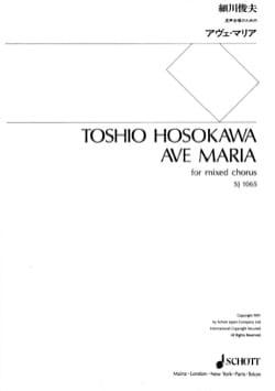 Toshio Hosokawa - Ave Maria - Partition - di-arezzo.fr