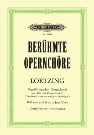 Lortzing - Zar Und Zimmermann. Choeur - Partition - di-arezzo.fr