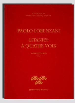 Paolo Lorenzani - Litanies A 4 Voix - Partition - di-arezzo.fr