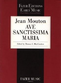 Ave Sanctissima Maria Jean Mouton Partition Chœur - laflutedepan