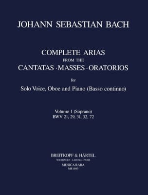Complete arias from the cantatas, masses, oratorios Volume 1 laflutedepan