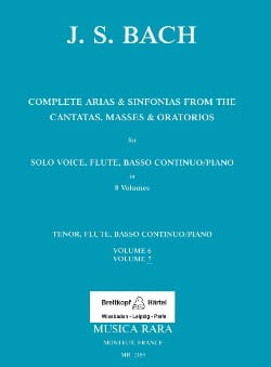 BACH - Complete arias from the cantatas, masses, oratorios Volume 7 - Partition - di-arezzo.fr