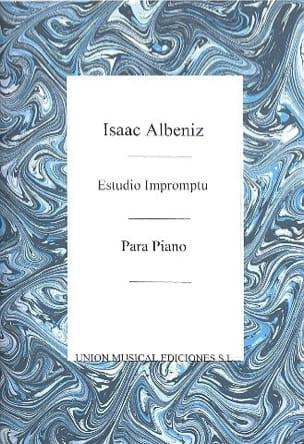 Albeniz - Estudio Impromptu - Partition - di-arezzo.fr