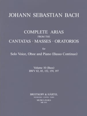 Complete arias from the cantatas, masses, oratorios Volume 10 laflutedepan