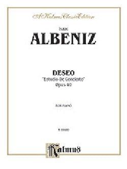 Deseo Op. 40 - Albeniz - Partition - Piano - laflutedepan.com