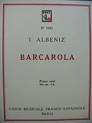 Isaac Albeniz - Barcarola Op. 23 - Partition - di-arezzo.fr