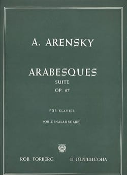 Arabesques Op. 67 Anton Arensky Partition Piano - laflutedepan