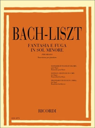Bach Jean-Sébastien / Liszt Ferenc - Fantasy and Fugue In Minor Soil. Bwv 542 - Sheet Music - di-arezzo.co.uk