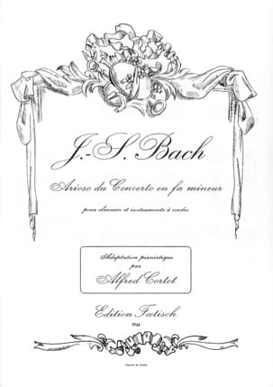 BACH - Arioso From The Concerto In F Minor BWV 1056 - Sheet Music - di-arezzo.co.uk