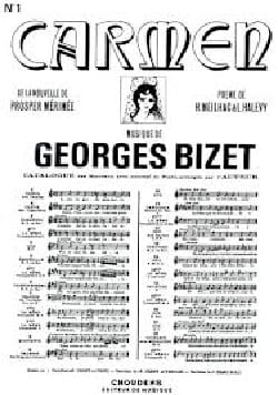 BIZET - With the rising guard. Carmen - Sheet Music - di-arezzo.com