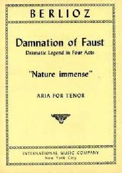 Hector Berlioz - Nature Immense. la Damnation de Faust - Partition - di-arezzo.fr