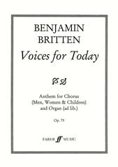 Voices For Today Op. 75 - Benjamin Britten - laflutedepan.com
