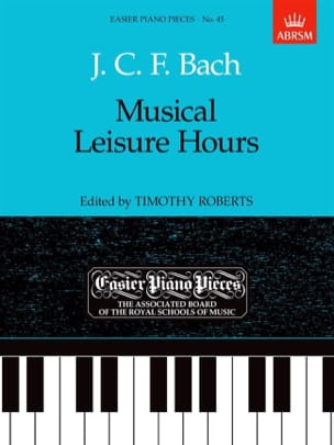 Johann Christoph Friedrich Bach - Musical Leisure Hours - Partition - di-arezzo.fr