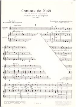 Louis-Claude Daquin - Christmas cantata - Sheet Music - di-arezzo.co.uk