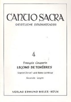 François Couperin - 2nde Leçon de Ténèbres - Partition - di-arezzo.fr