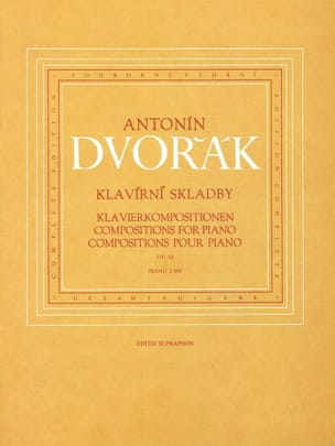 Anton Dvorak - Compositions Pour Piano Op. 52 - Partition - di-arezzo.fr