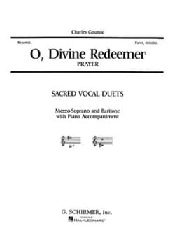 O Divine Redeemer. Charles Gounod Partition Duos - laflutedepan