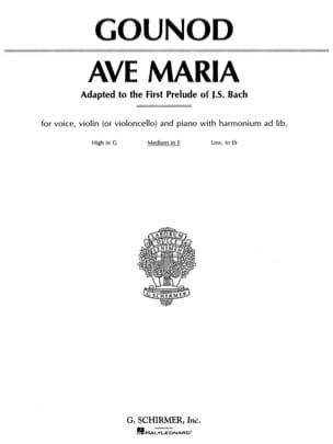 Ave Maria. Voix moyenne GOUNOD Partition Violon - laflutedepan